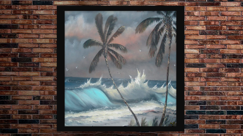 """Stormy Palms"" by A J Brown"