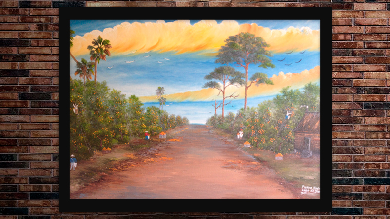 """Picking' Oranges"" by A J Brown"
