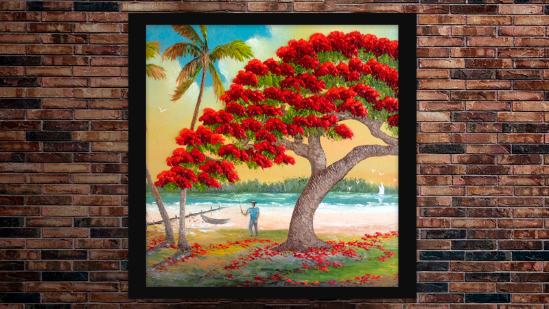"""Docked at Poinciana Palms"" by A J Brown"