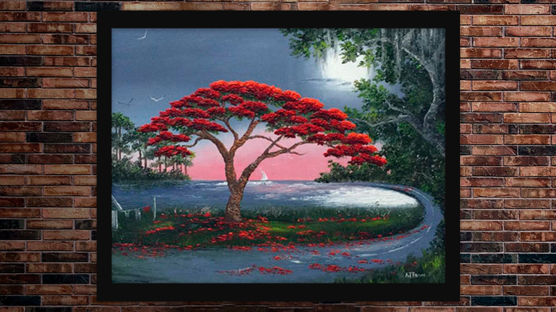 """Poinciana Curve"" by A J Brown"