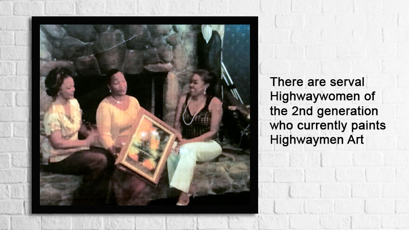 The Highwaymen female are members of Fort Pierce Tours