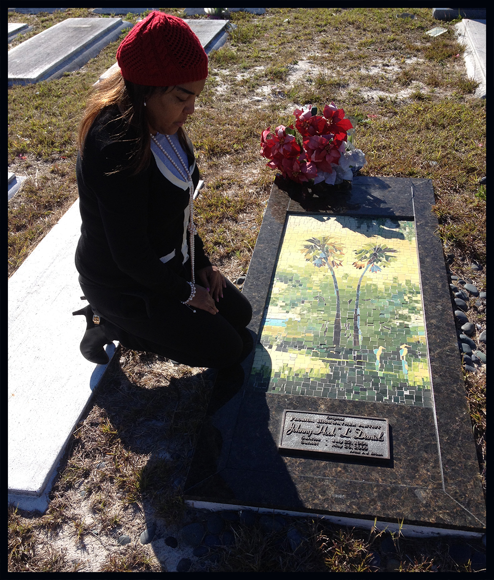 Johnny Daniels monument is on the Fort Pierce Trail, Tour and Website