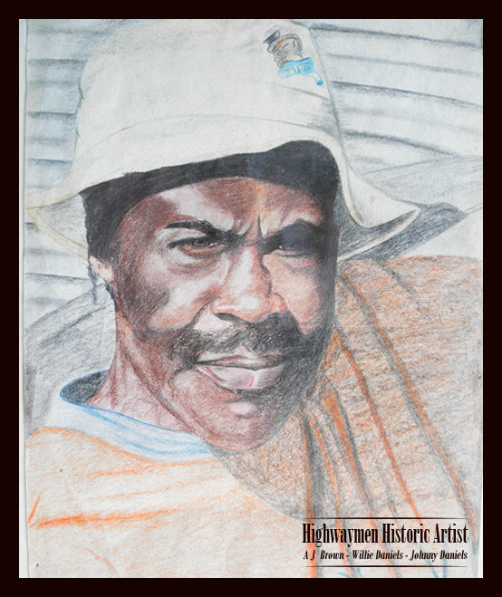 Florida Highwaymen Original Artist Willie Daniels is a member of the Highwaymen Trail in Fort Pierce, Florida