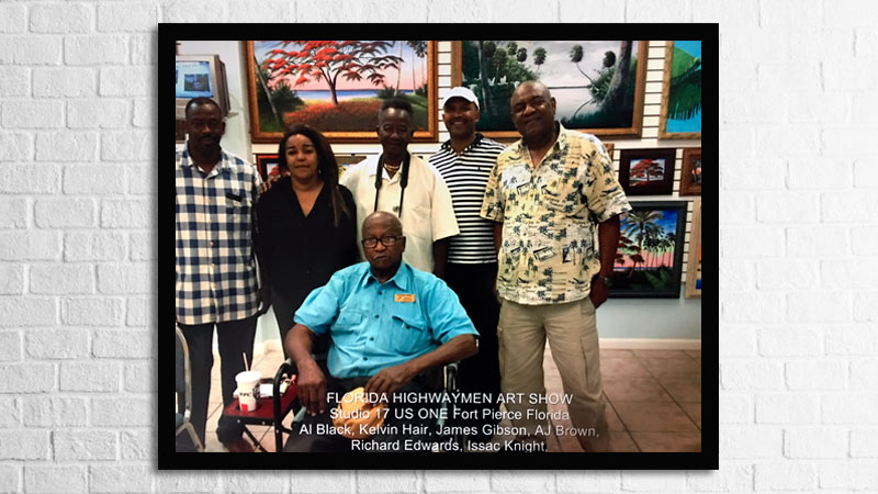 The Florida Highwaymen, Richard Edwards, A J Brown, James Gibson, Kelvin Hair, Al Black, and Issac Knight