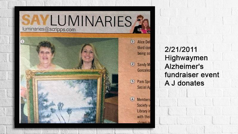 Highwaymen A J Brown donates to Alzheimer's fundraiser