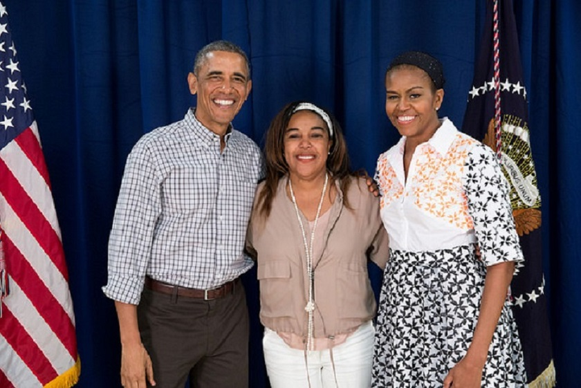 44th President Barack and First Lady Michelle Obama, and AJ Brown in Hawaii!