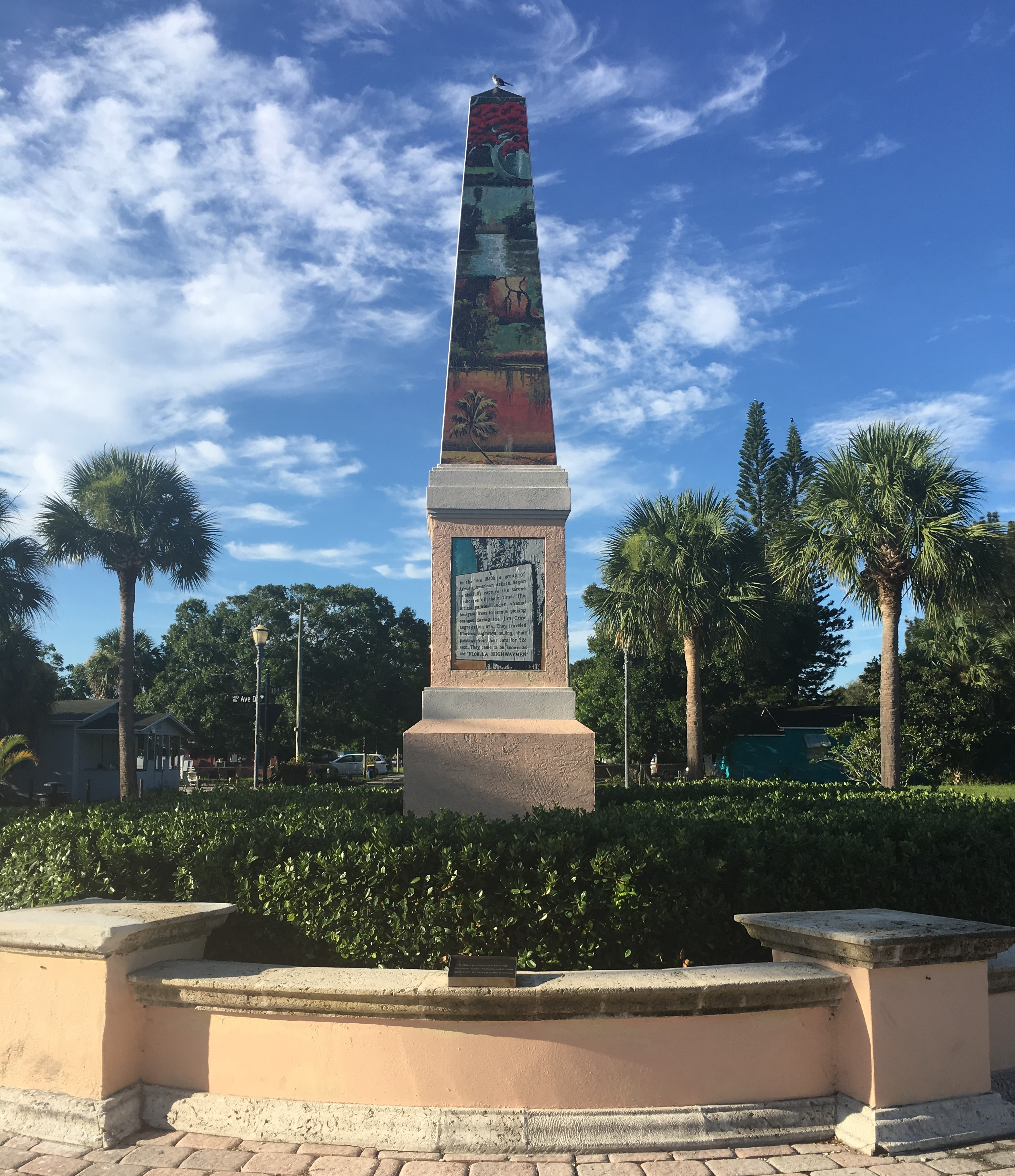 The Highwaymen Trail Obelisk, Fort Pierce, Florida